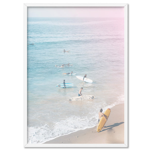 California Pastels / Into the Surf - Art Print