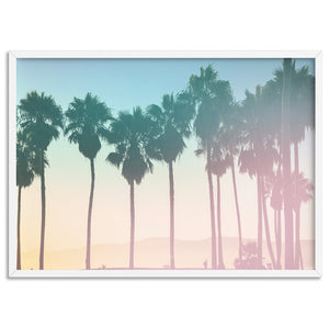 California Pastels / Palm Horizon - Art Print