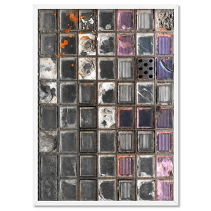 Newtown Pavement Glass Bricks - Art Print, Stretched Canvas, or Framed Canvas Wall Art