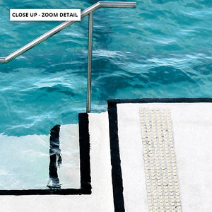 Bondi Icebergs Pool VI - Art Print, Stretched Canvas or Framed Canvas Wall Art, Close up View of Print Resolution