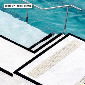 Bondi Icebergs Pool VII - Art Print, Stretched Canvas or Framed Canvas Wall Art, Close up View of Print Resolution