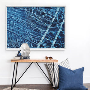 The Surface, Poolside - Art Print, Stretched Canvas or Framed Canvas Wall Art, Shown inside a frame