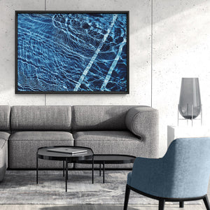 The Surface, Poolside - Art Print, Stretched Canvas or Framed Canvas Wall Art, Shown framed in a room mockup
