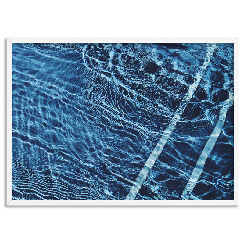 The Surface, Poolside - Art Print, Stretched Canvas, or Framed Canvas Wall Art