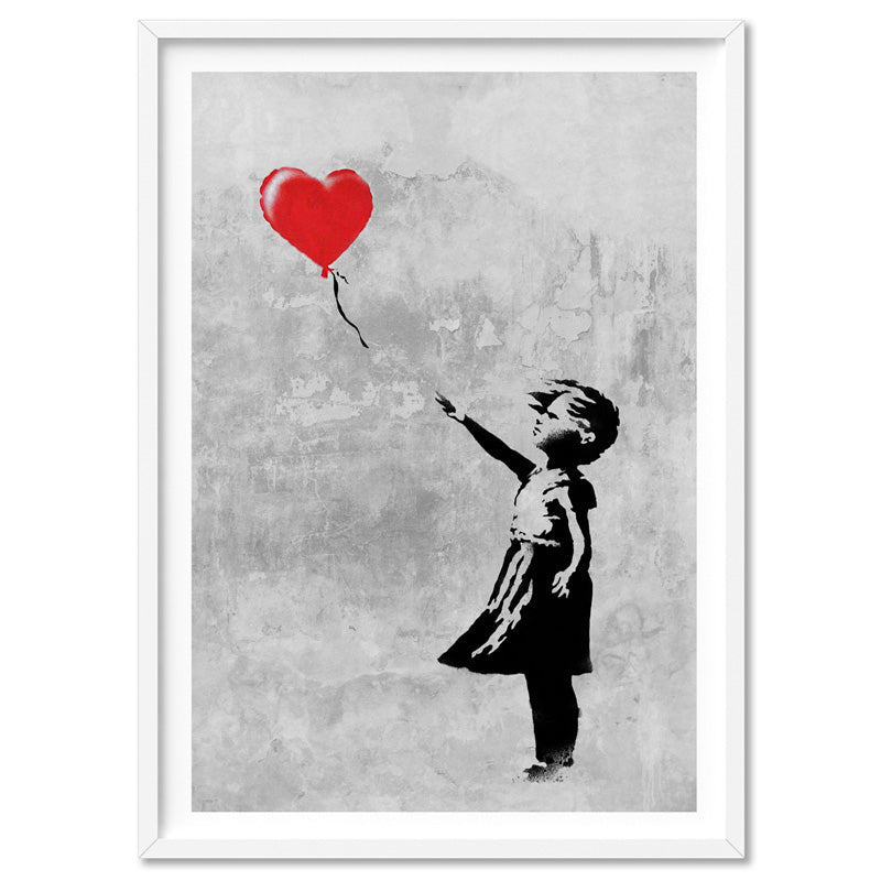 Girl With Red Balloon - Art Print