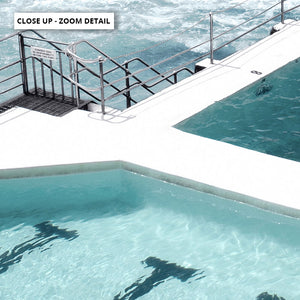 Bondi Icebergs Pool IX - Art Print, Stretched Canvas or Framed Canvas Wall Art, Close up View of Print Resolution