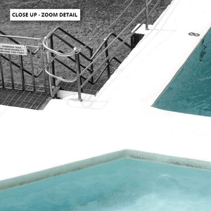 Bondi Icebergs Pool XII - Art Print, Stretched Canvas or Framed Canvas Wall Art, Close up View of Print Resolution