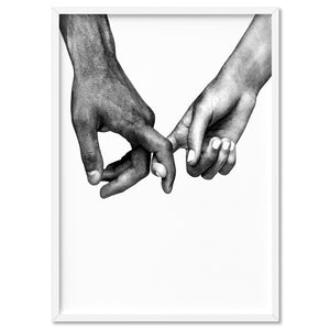 Couple Holding Hands I - Art Print, Stretched Canvas, or Framed Canvas Wall Art