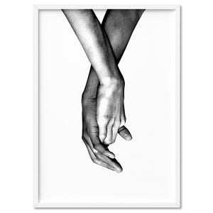 Couple Holding Hands II - Art Print, Stretched Canvas, or Framed Canvas Wall Art