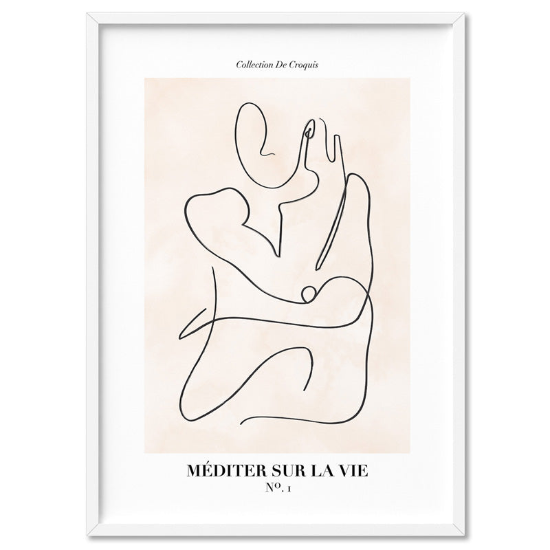 Abstract Line Art Figures I | Meditate on Life - Art Print