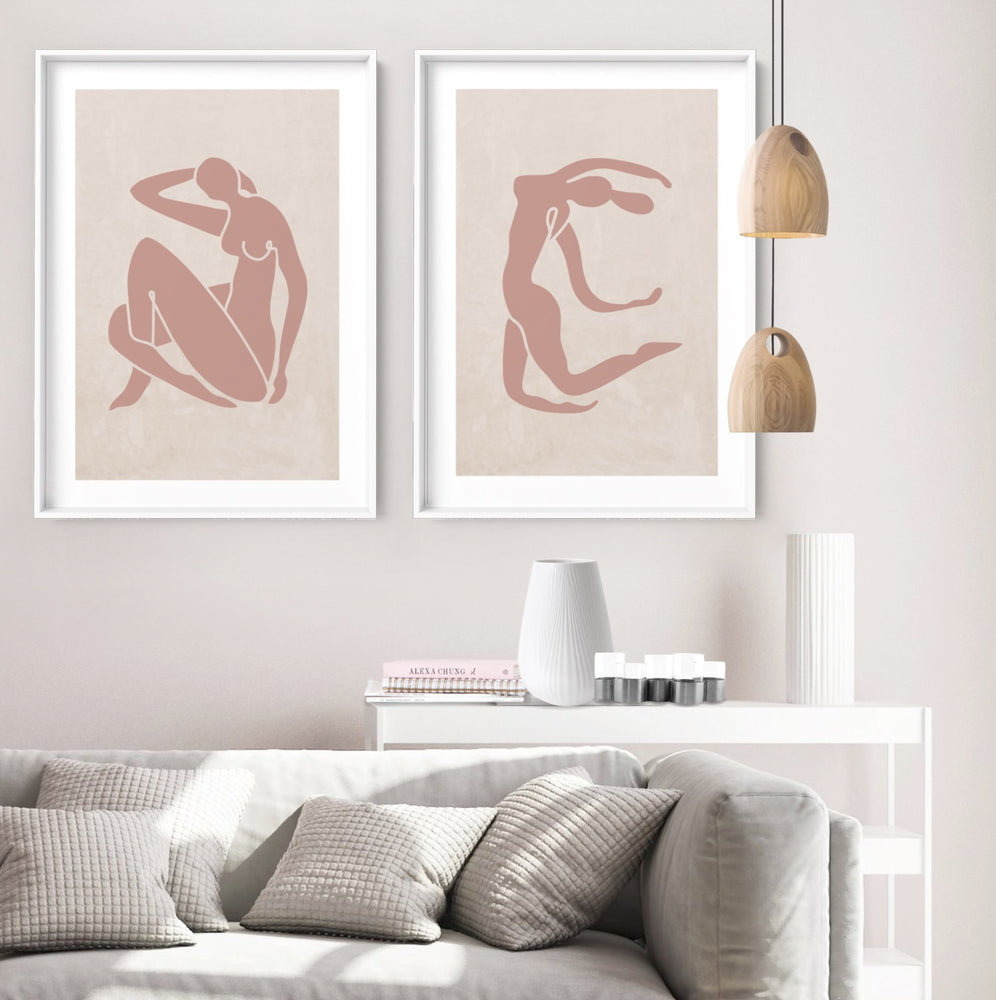 Decoupes La Figure Femme II - Art Print, Stretched Canvas or Framed Canvas Wall Art, Shown framed in a room mockup