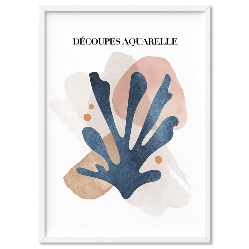 Decoupes Aquarelle I - Art Print, Stretched Canvas, or Framed Canvas Wall Art