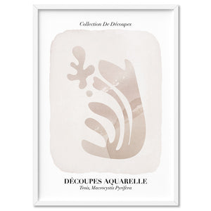 Decoupes Aquarelle III - Art Print, Stretched Canvas, or Framed Canvas Wall Art