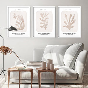 Decoupes Aquarelle V - Art Print, Stretched Canvas or Framed Canvas Wall Art, Shown framed in a room mockup