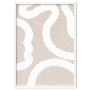 Boho Abstracts | White Lines II - Art Print, Stretched Canvas, or Framed Canvas Wall Art