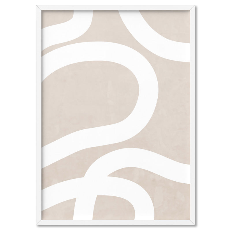 Boho Abstracts | White Lines III - Art Print
