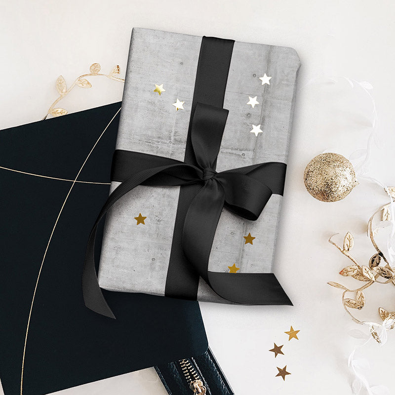 Luxe Gift Wrapping Paper Sheet - Concrete