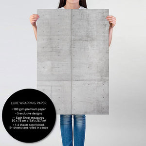 Person holding Concrete gift wrapping paper