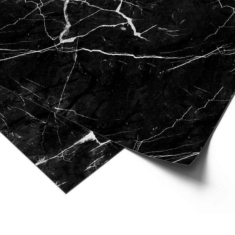 Premium Wrapping Paper in Black Marble Design, close up view