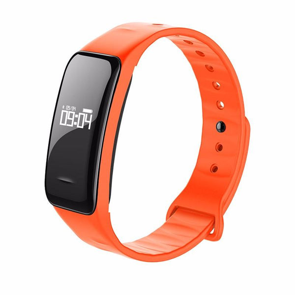 Bluetooth Smart Band Blood Pressure & Heart Rate Monitor Wristband Waterproof Fitness Bracelet Sleep Tracker for Sports Health