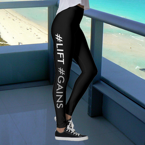 SHINE #LIFT #GAINS beiderbecker designed leggings