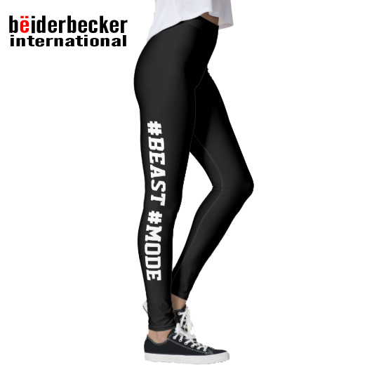 SHINE #BEAST #MODE beiderbecker designed leggings