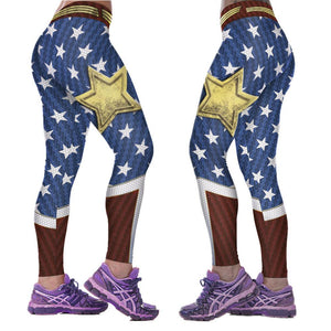 Stars and Stripes Fitness Sport Leggings