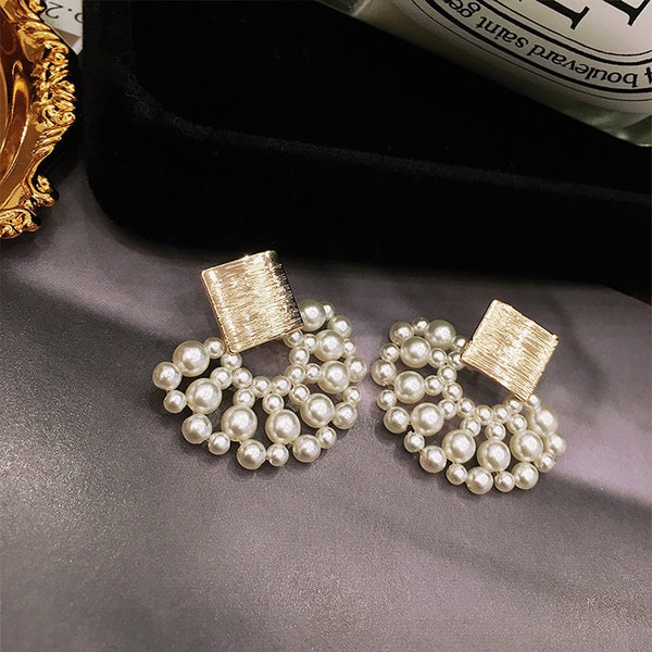Magnificent Vintage Pearl Drop Earrings