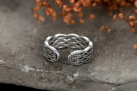 Elegant 3 Layer Spiral Silver RIng