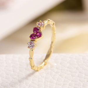 Crystal Infinity Love Stone Gold Ring