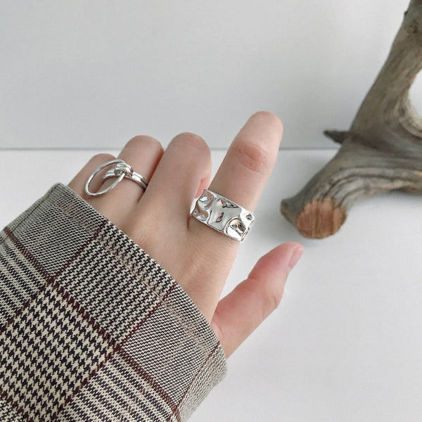 Vintage Bump Style Gold and Silver Ring
