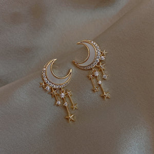 2021 New Arrival Trendy Starlight Crescent Moon Earrings for Women