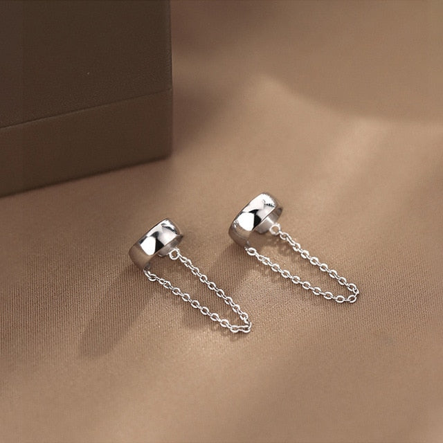 Exquisite chain clip-on earrings (Non-pierced)