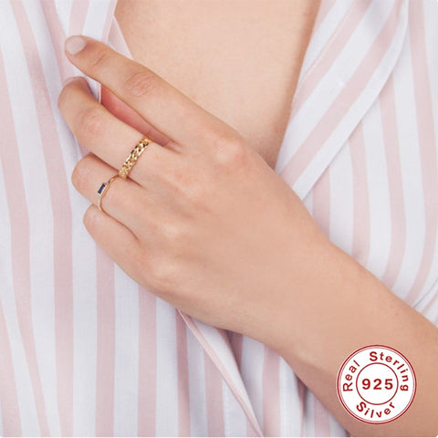 Trendy Pleated Gold Pattern Gold Ring