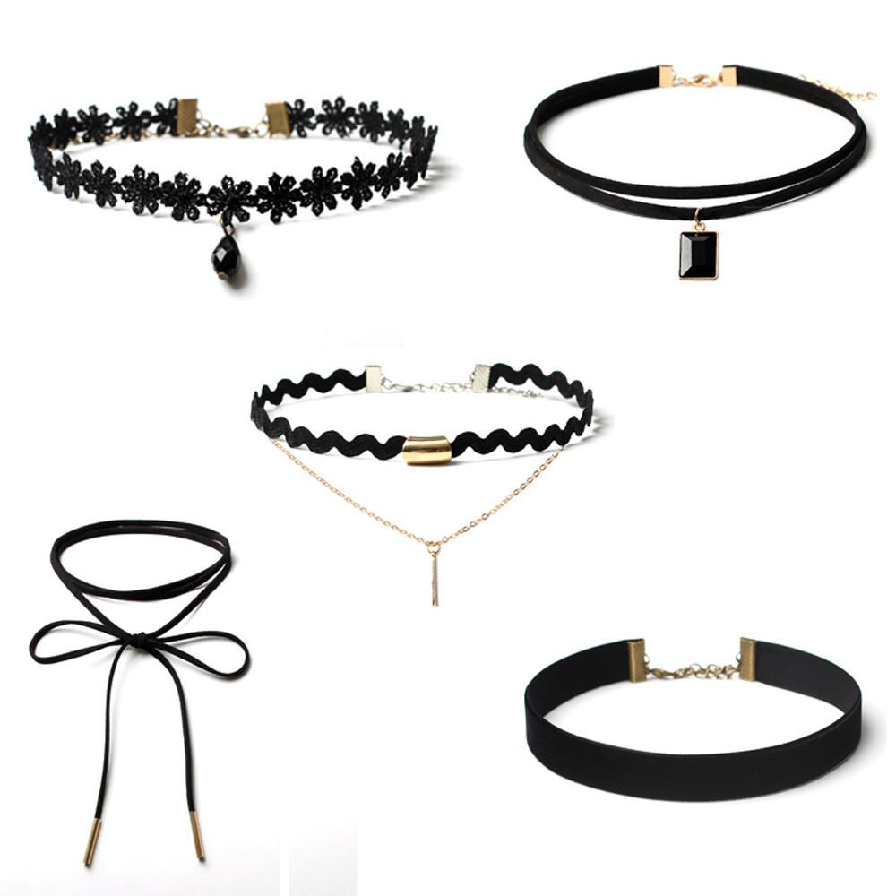 5 Pieces Choker Necklace Set