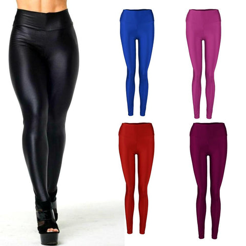 Shiny High Waist Candy Colors Leggings