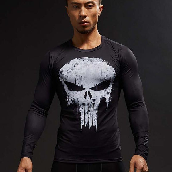 Punisher 3D Printed T-shirts Cosplay Costume crossfit