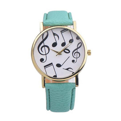 Musical Notes Analog Quartz Dial Wrist Watch