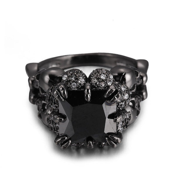 Power Clasp Black Gold Colored Ring