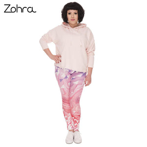 Big Hearts Marble Printed Leggings