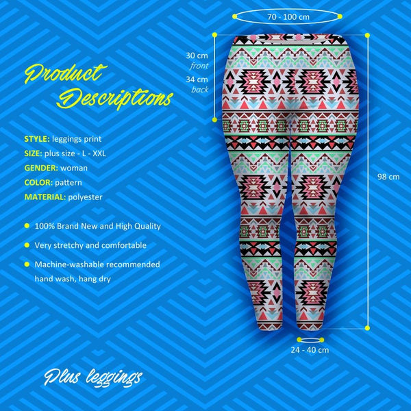 Big Hearts Leggings Boho Green