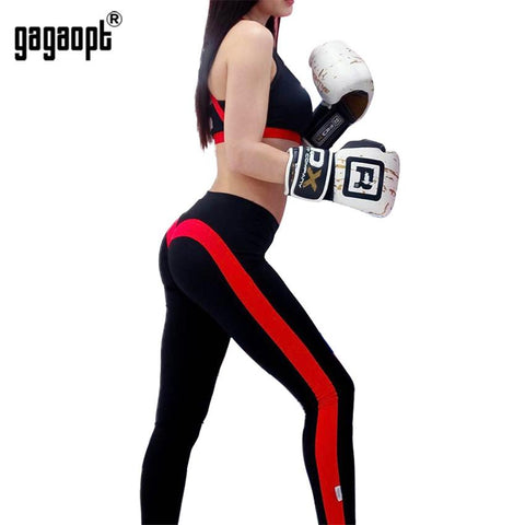 Black/Red Vintage Casual Streetwear Leggings