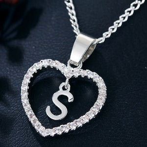 Women's Custom Letter Heart Necklace