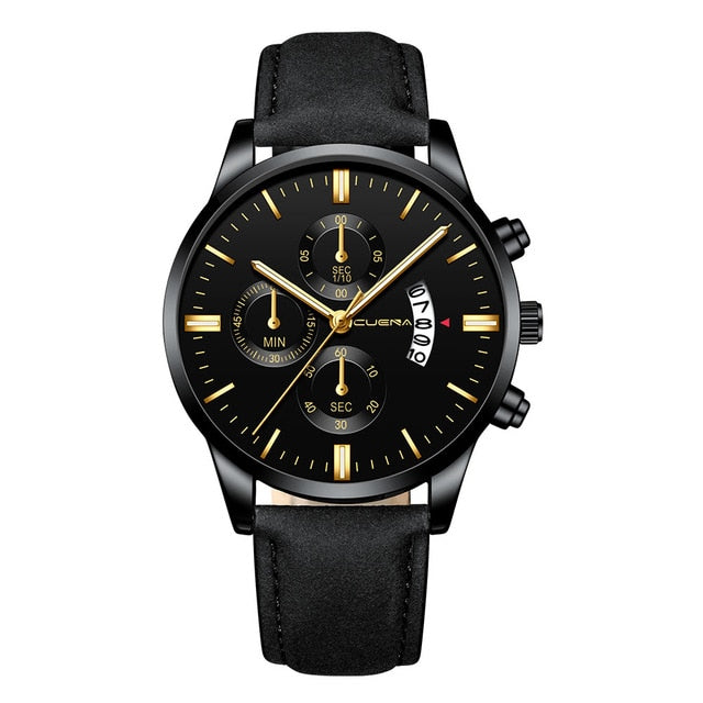 Gold Chronograph Stylish Watch for Men