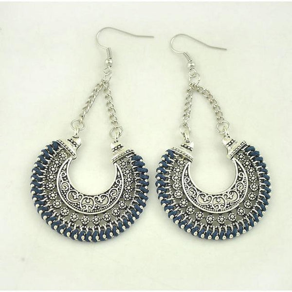 Vintage Silver Bohemian Earrings