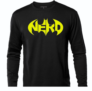 BATMAN NERD LONG SLEEVE TEE
