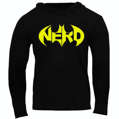 BATMAN NERD SLIM FIT PERFORMANCE WORKOUT SLIM PERFORMANCE HOODIE