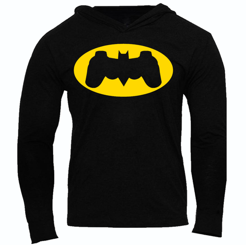BATMAN CONTROLLER SLIM FIT PERFORMANCE WORKOUT SLIM PERFORMANCE HOODIE