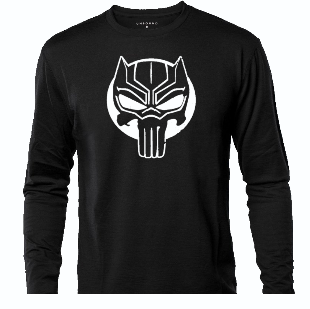 THE BLACK PANTHER/PUNISHER LONG SLEEVE TEE