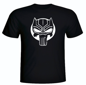 BLACK PANTHER/THE PUNISHER SHORT SLEEVE TEE